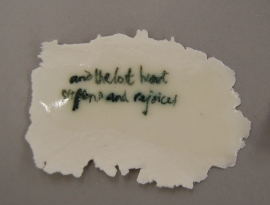 porcelain with TS Eliot inscribed