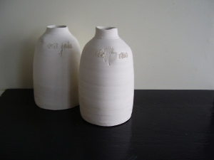 two porcelain jars